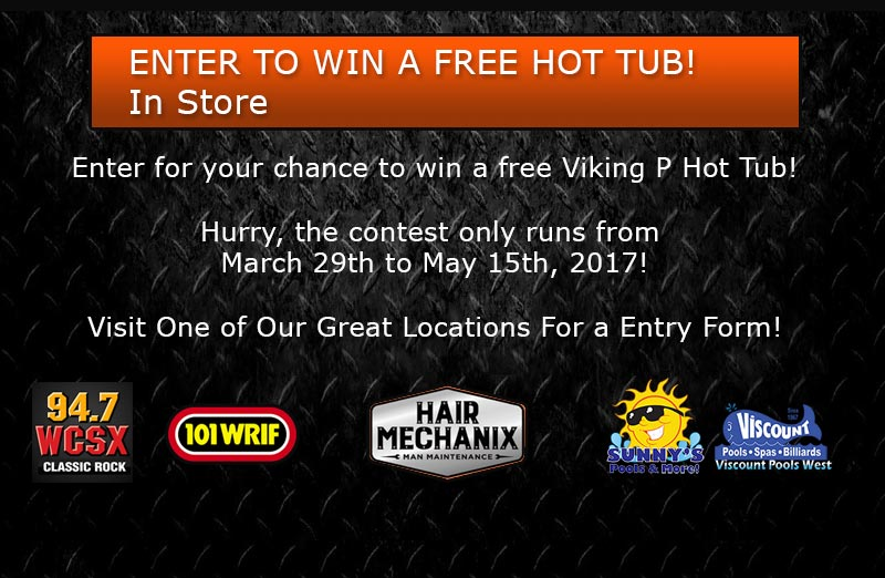 FREE HOT TUB CONTEST FROM HAIR MECHANIX