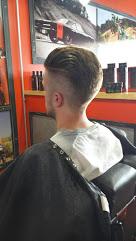 Pompadour hair cut