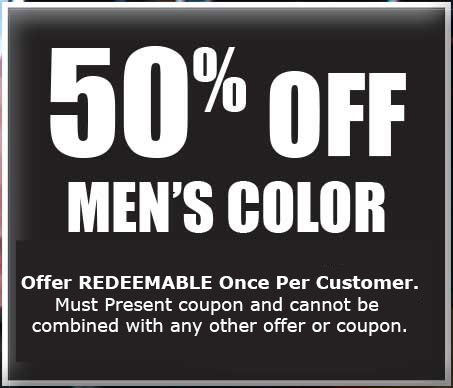 50% Off Men's Color Coupons