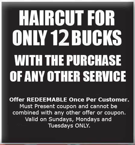 Haircut for $12