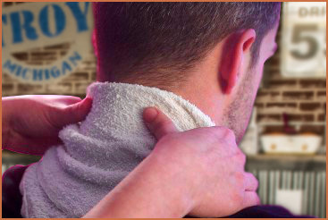 Hot Towel neck massage included